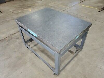 Standridge Granite Table Plate 48 X 36 35 34 X 6 14in Stand 33 34in Tall