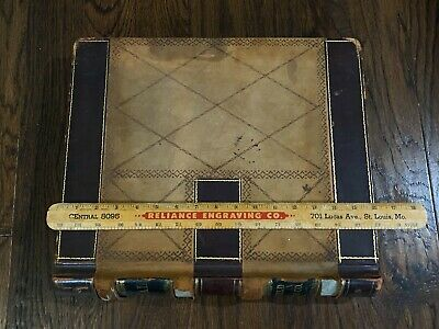 """HUGE antique Hayfield (MN) Lumber Co 1914-1915 ledger - 592 pgs - 15lbs 16""""x14"""""""