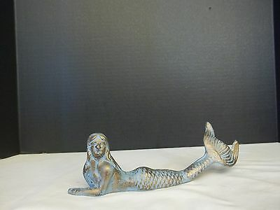CAST IRON MERMAID BEAUTIFUL NAUTICAL OR GARDEN DECOR