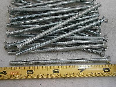 Machine Screws 10-24 X 4 Long Slotted Flat Head Steel Zinc Lot Of 20 5355