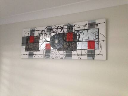 Canvas painted wall art