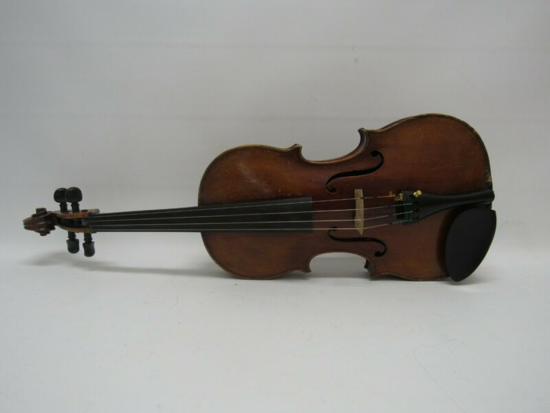 "Albert Thomas 15 1/4"" Viola, Made in Germany in 1890, w/ Black Hard Shell Case"