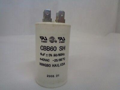 NEW NINGBO HAILIDA CBB60 SH CAPACITOR 6uF 440V