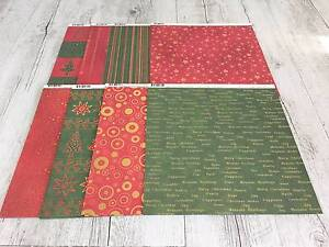 Scrapbooking/Cardmaking paper - 63 sheets Traditional Christmas Birkdale Redland Area Preview