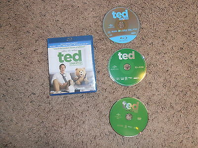 TED UNRATED movie BLU-RAY DVD video TARGET EXCLUSIVE BONUS DISC