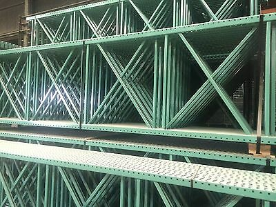 5 Sections Teardrop Pallet Rack 10x42 96 Beam With Wire Deck