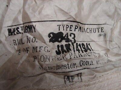 Original WW2 US Army Air Corps FIGHTER PILOT PARACHUTE-Complete-Dated 1941 (Pilot Parachute)