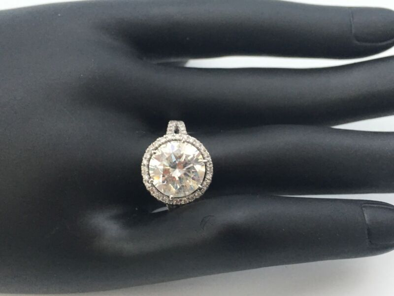 4.00 Cts Round Enhanced Diamond  Solitaire Engagement Ring 14k White Gold Xmas