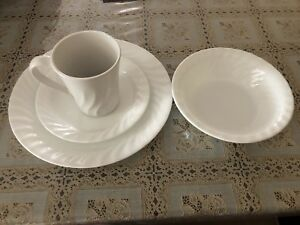 Like NEW White Corelle dinner set ! 38 pieces !