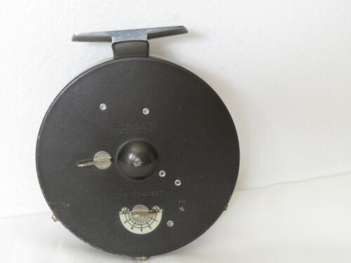 """Vintage Hardy Conquest 4¼"""" Centrepin Reel"""