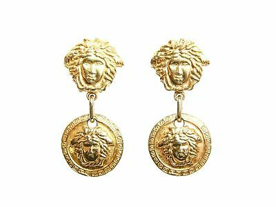 Authentic Gianni Versace Medusa logo vintage clip on earrings