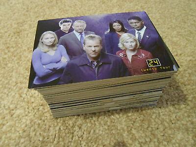24 SEASON 1 & 2  TRADING CARD BASE SET 90 CARDS
