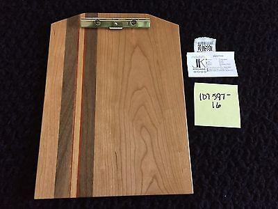 New Exotic Wood Clip Board Walnut Cherry Padauk Purple Heart 107597-16