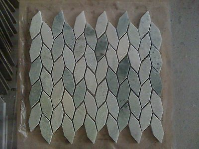 (MARBLE POLISHED  MING GREEN  DIAMOND LEAF   MOSAIC TILE  FREE SHIPPING 40SQ.FT)