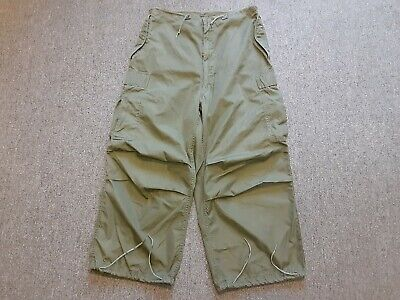 VTG 50s US Army Military M-1951 M51 Arctic Shell Trouser Pants Small S 32 x 24