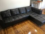 Leather couches  Earlwood Canterbury Area Preview