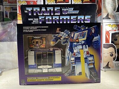 Transformers Soundwave G1 Walmart Exclusive Reissue Buzzsaw Cassette Sealed NEW!