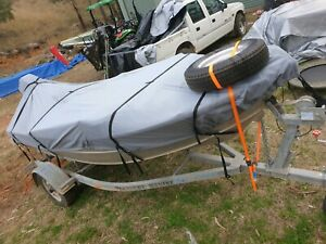 4.2m 25hp Evinrude boat and trailer REFURBISHED