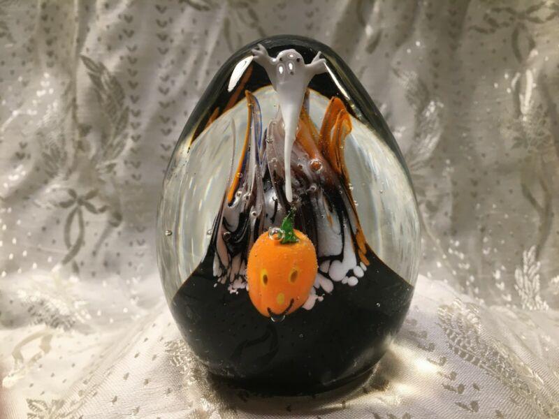 Blown Glass Paperweight, Halloween