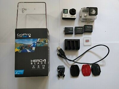 GoPro Hero4 Black Edition - Good condition - INCLUDES 3 BATTERIES