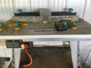 Wolfcraft router table.
