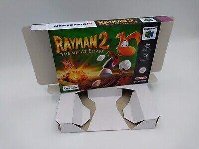 Rayman 2 The Great Escape - repro box with insert - N64 - Pal, NTSC or Australia