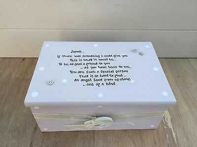 Shabby Personalised Chic Jewellery Box Gift For A Special Best Friend