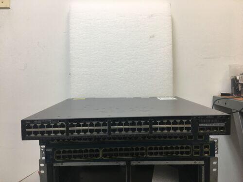 Cisco Ws-c3650-48fd-s 48 10/100/1000 C3650 Poe+ Switch 1 X Pwr-c2-1025wac Psu