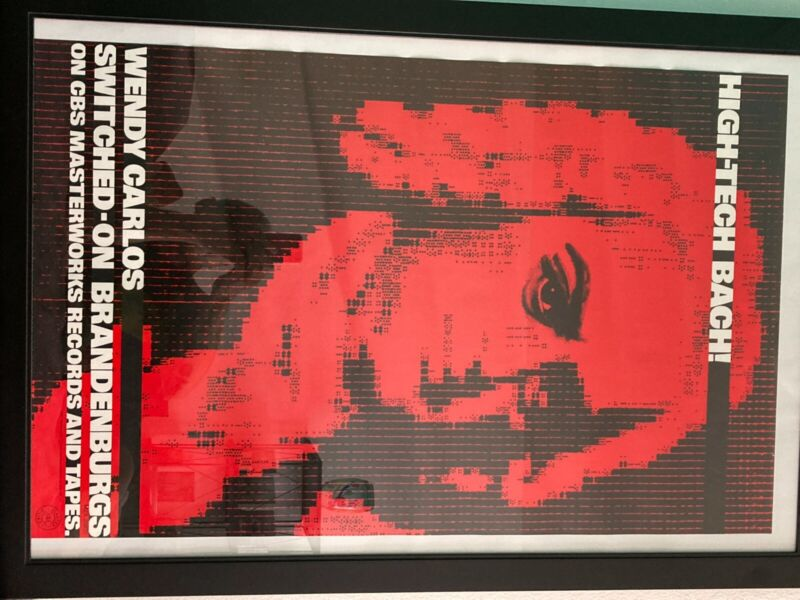 """Wendy Carlos CBS """"Switched On Brandenburgs"""" 1980 Original Promo Poster"""