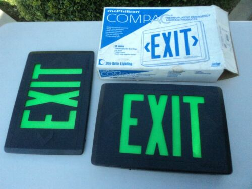 New MCPHILBEN Compac Thermoplastic Exit Sign CK Series Model CXL3GBEM