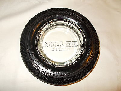 VINTAGE MILLER TIRE'S ASHTRAY  NO CHIPS OR CRACKS ASHTRAY IS IN MINT CONDITION!