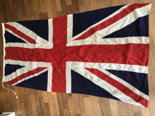 Vintage Cotton Union Jack UK Flag Banner British Britain England Cloth Old