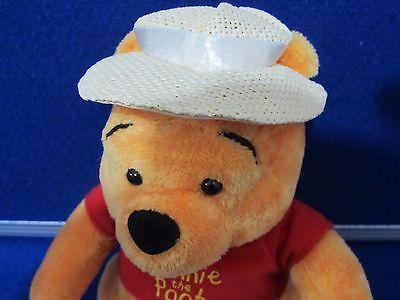 Disney Winnie The Pooh Plush Soft Toy With Straw Hat 22cm