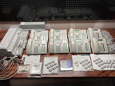 Northern Telecom Nortel Norstar Cics Compact Ics Telephone System 8 Phones Video