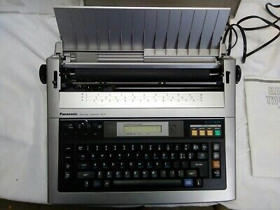 Word Processor Panasonic Model Kx-r435 Electric Typewriter W Cover Accu-spell