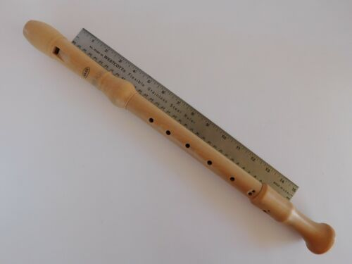 ADLER WOOD ALTO RECORDER w/Case, Cleaning Rod, Chart GERMAN-MADE BAROQUE NEW