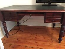 Wooden Antique Desk Albert Park Port Phillip Preview