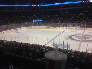 Centre ice tickets Jets-Vancouver