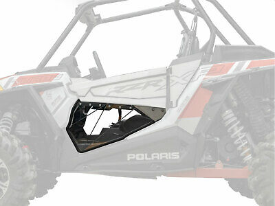 SuperATV Clear Lower Doors for Polaris RZR XP Turbo S (2018+) - Pair