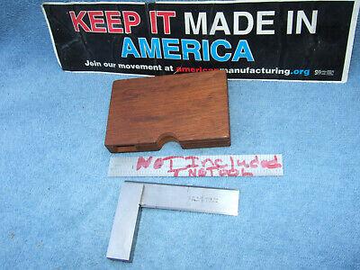 Brownsharpe 542 3 Inch Master Square Wooden Case Beveled Edge Toolmaker