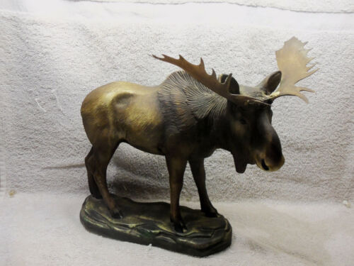 "Vintage Moose Figurine, 10 1/2""  Copyright 1948 ORN -A CRAFT PRODUCT""  VERY RARE"