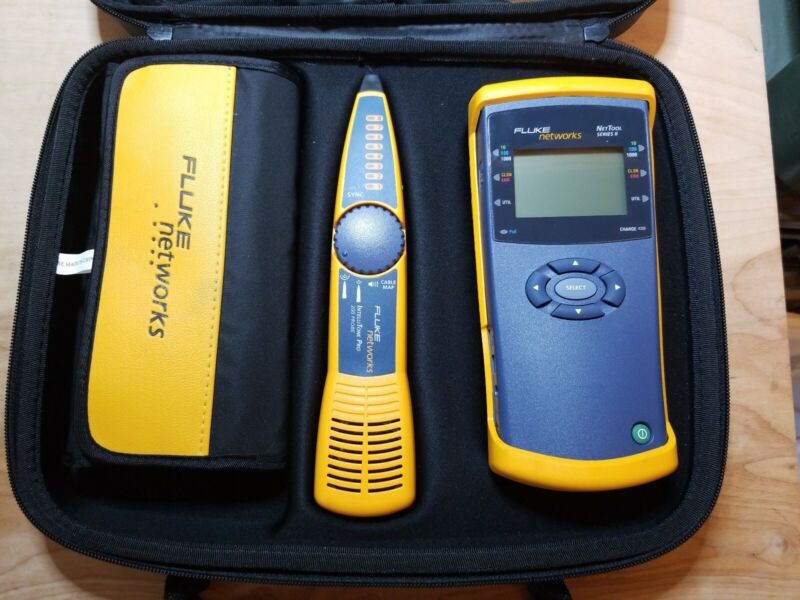 Fluke Networks NetTool Series II (inline network tester) kit with intellitone