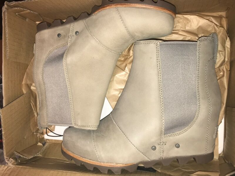 9517adc7c19d Сапоги или ботинки для женщины Women s Sorel Lea Wedge Boot NIB Waterproof  Black Grey Tan Ankle Joan Chelsea ...