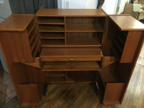 Mid Century Formosan Folding Box Desk, Scandinavian