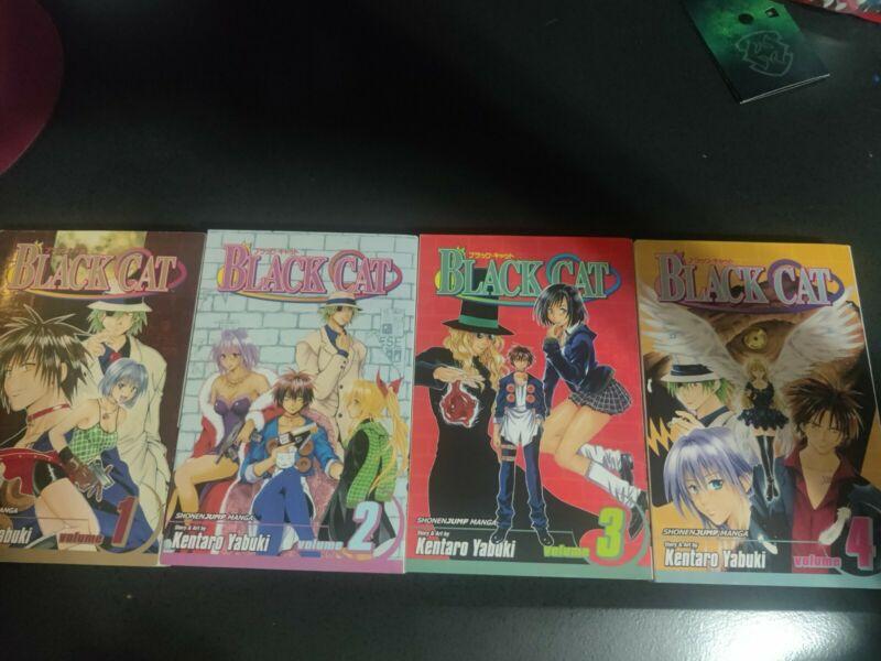 Black Cat Manga 1-4, good condition