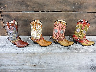 COWBOY BOOT Choose Style = Resin Rhinestones Decor Wedding Birthday CAKE - Cowboy Cake