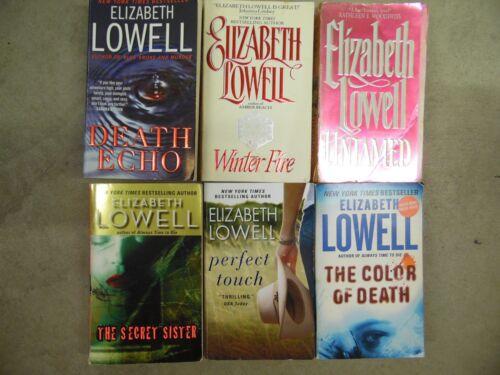 Lot of 6 Elizabeth Lowell Romance, Romantic Suspense, Historical Paperback Books