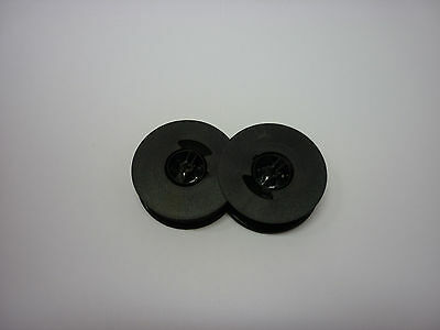 Olivetti Lettera 32 Typewriter Ribbon Black Twin Spool Compatible 2 Pack