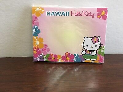 Sanrio Hello Kitty Hawaii Sticky Note Pads New In Package 40 Sheets