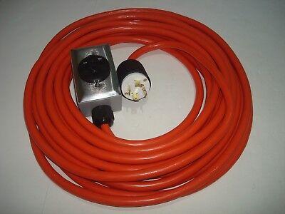 WELDER EXTENSION CORD 25 FEET 240V L14-30 P, 6-50 R, CONNECT WELDING M TO GENERT